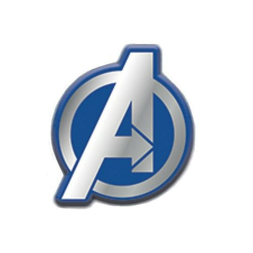 Marvel Avengers Blue and Silver Logo Pin Badge